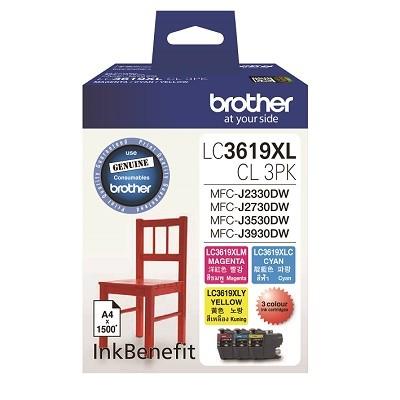 Singapore Original Brother Ink LC3619CL-3PK (Color Pack) for Printer Model: MFC-J2330DW, MFC-J2730DW, MFC-J3930DW