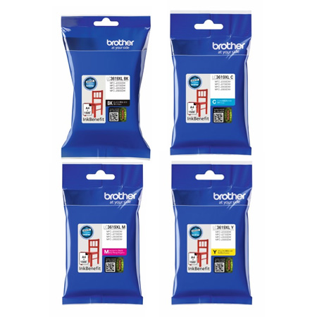 Singapore Original Brother Ink LC3619XL Black, LC3619XL Cyan, LC3619XL Magenta and LC3619XL Yellow Ink for Printer Model: MFC-J2330DW, MFC-J2730DW, MFC-J3930DW