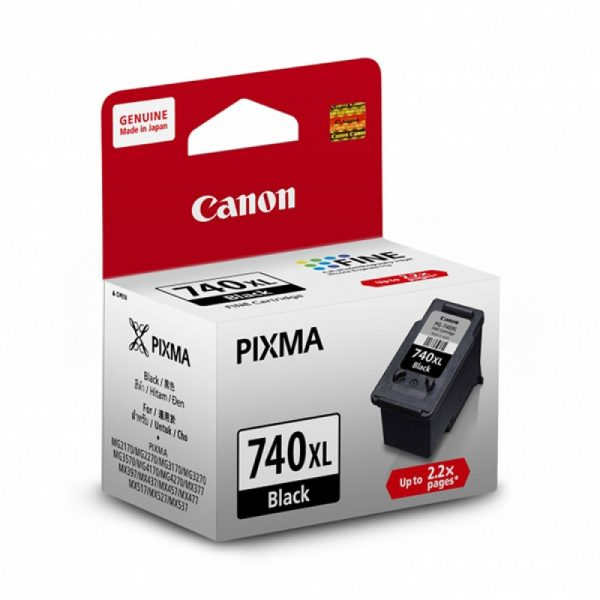 Singapore Original Canon Ink PG-740XL Black Ink Printer Models: MG2170, MG2270, MG3170, MG3570, MG3670, MG4170, MG4270, MX377, MX437, MX477, MX517, MX527