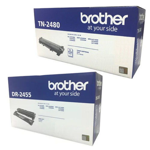 Singapore Original Brother TN-2480 Toner + DR-2455 Drum For Printer: DCP-L2535DW, DCP-L2550DW, Hl-2375DW, MFC-L2715DW, MFC-L2750DW