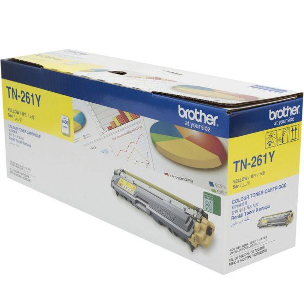 Singapore Original Brother TN-261Y Yellow Toner for Printer Model: HL-3150CDN, HL-3170CDW, MFC-9140CDN, MFC-9330CDW