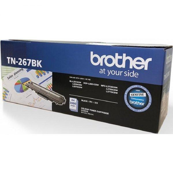 Singapore Original Brother TN-267BK Black Toner for Printer Model: HL-L3230CDN, HL-L3270CDW, DCP-L3551CDW, MFC-L3750CDW, MFC-L3770CDW