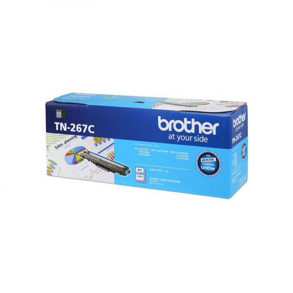 Singapore Original Brother TN-267C Cyan Toner for Printer Model: HL-L3230CDN, HL-L3270CDW, DCP-L3551CDW, MFC-L3750CDW, MFC-L3770CDW