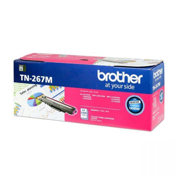 Singapore Original Brother TN-267M Magenta Toner for Printer Model: HL-L3230CDN, HL-L3270CDW, DCP-L3551CDW, MFC-L3750CDW, MFC-L3770CDW