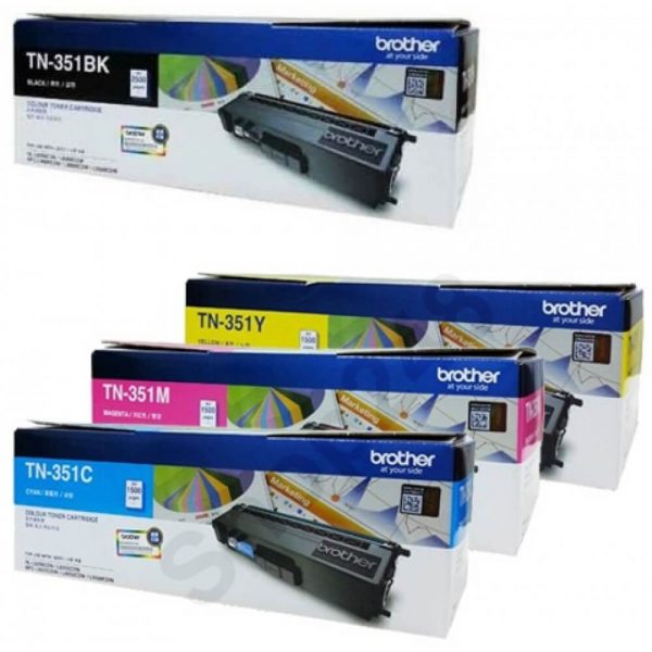 Singapore Original Brother TN-351BK Black, TN-351C Cyan, TN351M Magenta, TN-351Y Yellow Toner and DR-351CL Drum and BU-320CL Belt Unit for Printer Model: HL-L8250CDN, HL-L8350CDW, MFC-L8850CDW, MFC-L9550CDW