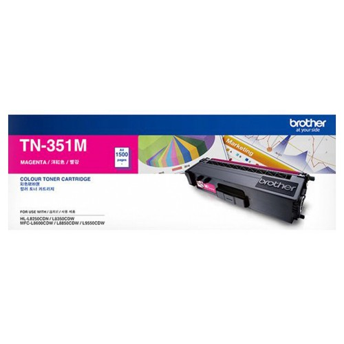 Singapore Original Brother TN-351M Magenta Toner for Printer Model: HL-L8250CDN, HL-L8350CDW, MFC-L8850CDW, MFC-L9550CDW