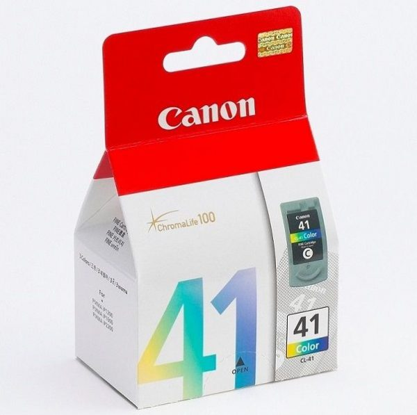 Singapore Original Canon CL-41 Color Ink for Printer Models: iP1200, iP1300, iP1600, iP1700, iP1880, iP1980, iP2200, iP2580, iP2680, iP6210D, iP6220D, iP6320D, MP145, MP150, MP160, MP170, MP180, MP198, MP228, MP450, MP460, MP476, MX308, MX318