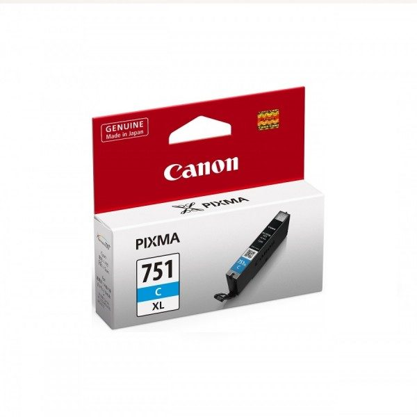Singapore Original Canon CLI-751 XL Cyan Ink For Printer: iP7270, iP8770, iX6870, MG5470, MG5570, MG5670, MG6370, MG6470, MG6670, MG7170, MG7570, MX727, MX927, iX6770