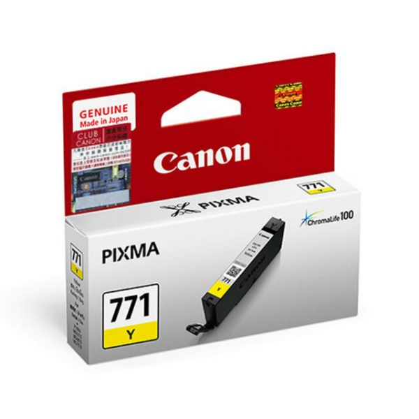 Singapore Original Canon CLI-771 Yellow Ink for Printer: MG5770, MG7770, TS5070, TS8070