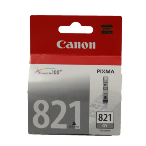 Singapore Original Canon CLI-821 Grey Ink for For Printer: iP3680, iP4680, MP545, MP558, MP568, MP628, MP638, MP648, MP988, MP996, MX876, MX868
