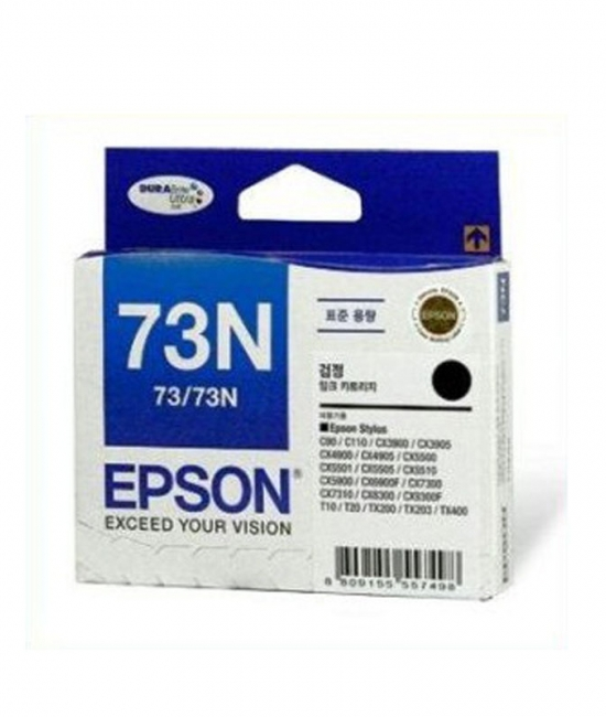 Singapore Original Epson 73N Black Ink (C13T105190) For Printer: Epson C79, C90, C110, CX3900, CX5500, CX5900, CX6900F, CX7300, CX8300, C9300F, T10, TX100, TX200, TX400, T30, TX300F