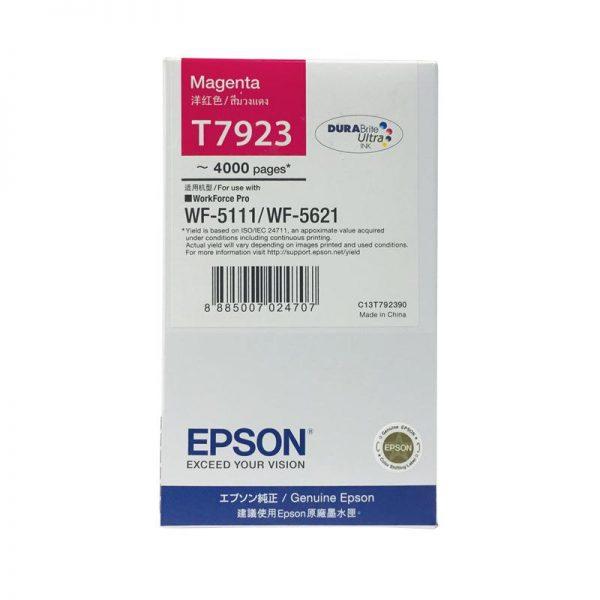 Singapore Original Epson T7923 Magenta Ink (C13T792390) For Printer: WF-5111, WF-5621