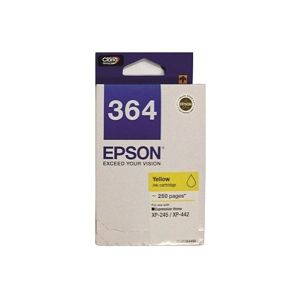 Singapore Original Epson 364 Yellow Ink (C13T364490) For Printer: XP-245, XP-442