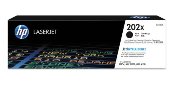 Singapore Original HP-202X (CF500X) Black Toner For Printer: HP Color LaserJet Pro M254dw, M281fdw