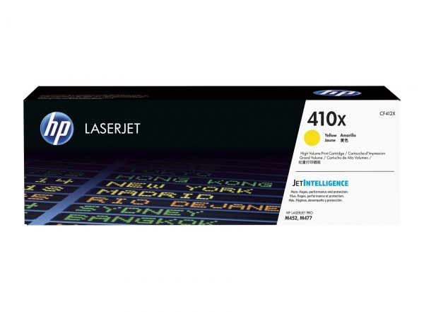 Singapore Original HP-410X (CF412X) Yellow Toner For Printer: HP Color LaserJet Pro M452dn, M452nw, MFP M477fdn, MFP M477fdw, MFP M477fnw