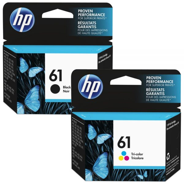 Singapore Original HP-61 Black (SD549AA) and HP-61 Tri-Color (SD550AA) Ink For Printer: HP Deskjet 1000, 1010, 1015, 1050, 2000, 2050, 2510, 2540, 2620, 3000, 3050, HP Envy 4500