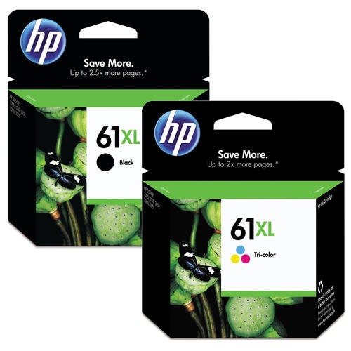 Singapore Original HP-61XL Black (CH563WA) and HP-61XL Tri-Color (CH564WA) Ink For Printer: HP Deskjet 1000, 1010, 1015, 1050, 2000, 2050, 2510, 2540, 2620, 3000, 3050, HP Envy 4500