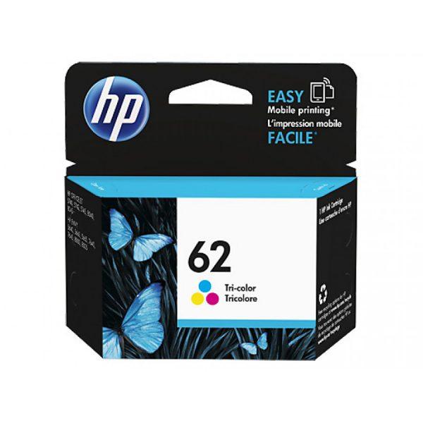 Singapore Original HP-62 Tri-Color (C2P06AA) Ink For Printer: HP ENVY 5640, 7640, HP Officejet 5740
