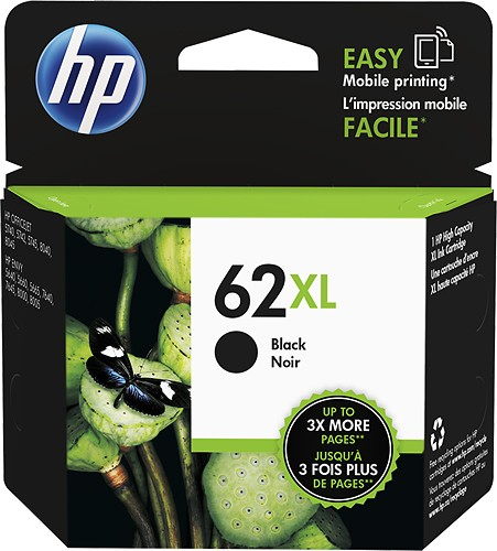 Singapore Original HP-62XL Black (C2P05AA) Ink For Printer: HP ENVY 5640, 7640, HP Officejet 5740
