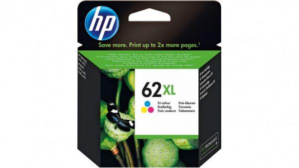 Singapore Original HP-62XL Tri-Color (C2P07AA) Ink For Printer: HP ENVY 5640, 7640, HP Officejet 5740