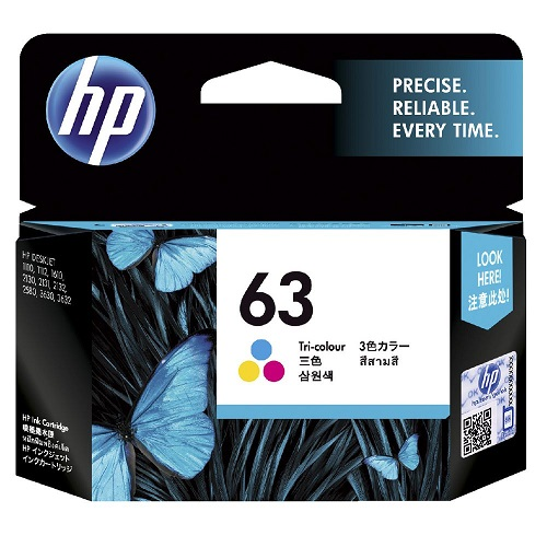 Singapore Original HP-63 Tri-Color (F6U61AA) Ink For printer: HP DeskJet 2130, 3630, HP ENVY 4520, 3830, 4650