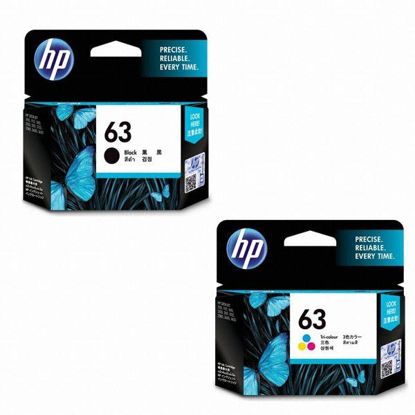 Singapore Original HP-63 Black (F6U62AA) and HP-63 Tri-Color (F6U61AA) Ink For printer: HP DeskJet 2130, 3630, HP ENVY 4520, 3830, 4650