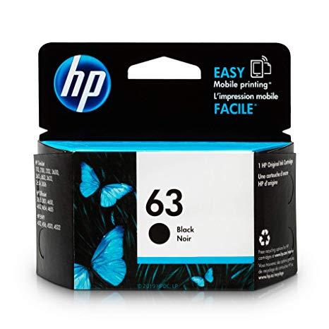 Singapore Original HP-63 Black (F6U62AA) Ink For printer: HP DeskJet 2130, 3630, HP ENVY 4520, 3830, 4650