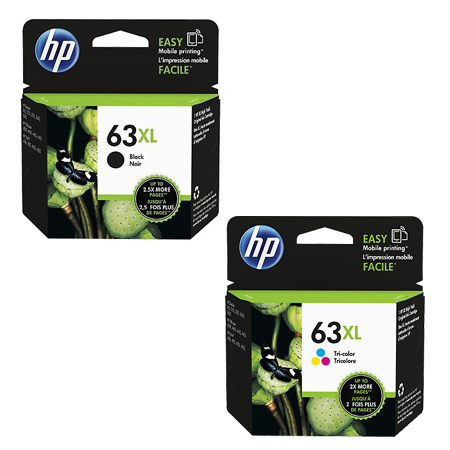 Singapore Original HP-63XL Black (N9K04AA) and HP-63XL Tri-Color (N9K03AA) For printer: HP DeskJet 2130, 3630, HP ENVY 4520, 3830, 4650