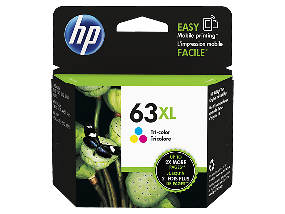 Singapore Original HP-63XL Tri-Color Ink (N9K03AA) For printer: HP DeskJet 2130, 3630, HP ENVY 4520, 3830, 4650
