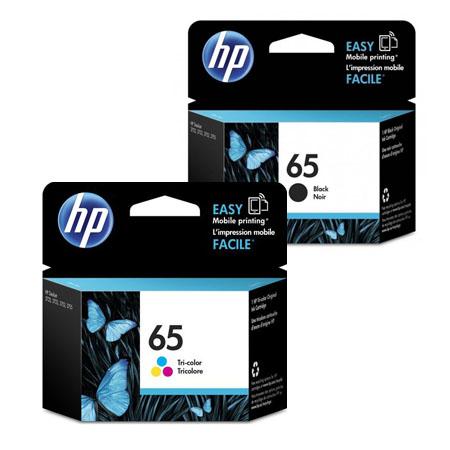 HP 65 black tri-color ink