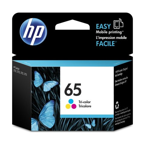 Singapore Original HP-65 Tri-Color Ink (N9K01AA) for Printer: HP DeskJet 3720, 3721, 3723 and HP DeskJet Ink Advantage 5075