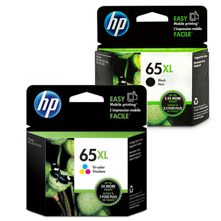 Singapore Original HP-65XL Black (N9K04AA) and HP-65XL Tri-color (N9K03AA) Ink for Printer: HP DeskJet 3720, 3721, 3723 and HP DeskJet Ink Advantage 5075