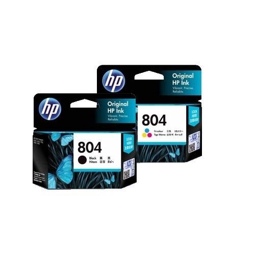 Singapore Original HP-804 Black (T6N10AA) and HP-804 Tri-Color (T6N09AA) Ink For Printer: HP ENVY Photo 6220, 6222, 7820, 7822