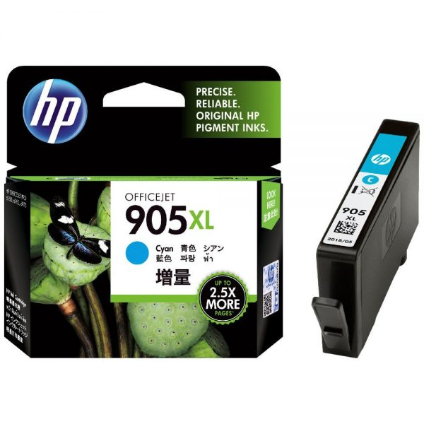 Singapore Original HP-905XL Cyan Ink (T6M05AA) For Printer: HP OfficeJet Pro 6960, 6970