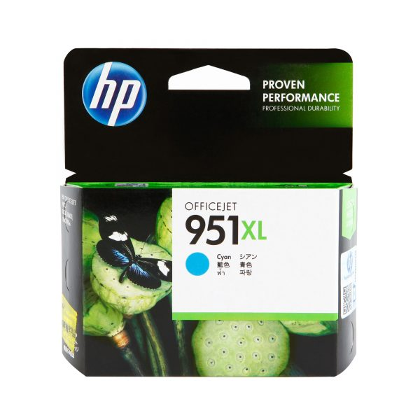 Singapore Original HP-951XL Cyan (CN046AA) Ink For Printer: HP Officejet Pro 251dw, 276dw, 8100, 8600, 8600 Plus