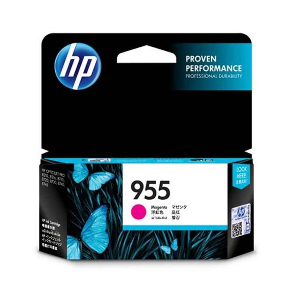Singapore Original HP-955 Magenta Ink (L0S54AA) For Printer: HP OfficeJet Pro 8710, 8720, 8730, 8210, 8216, 8740, 8745, 7740