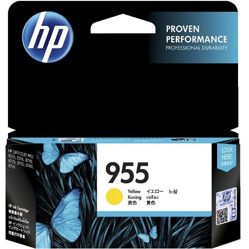 Singapore Original HP-955 Yellow Ink (L0S57AA) For Printer: HP OfficeJet Pro 8710, 8720, 8730, 8210, 8216, 8740, 8745, 7740