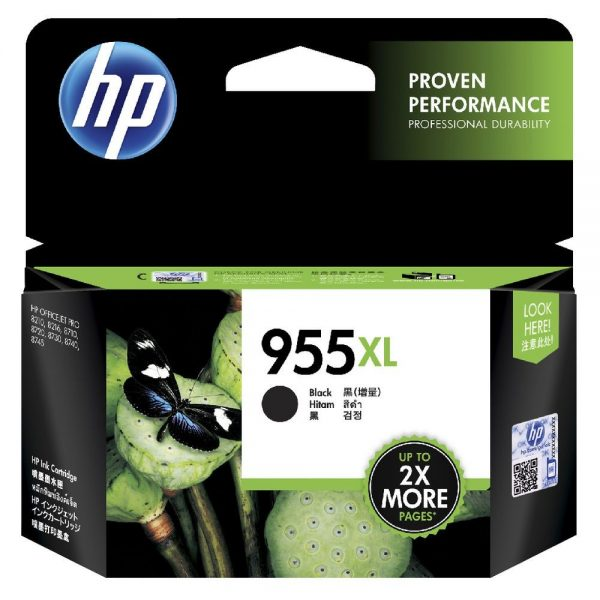 Singapore Original HP-955XL Black Ink (LOS72A) for Printer: HP OfficeJet Pro 8710, 8720, 8730, 8210