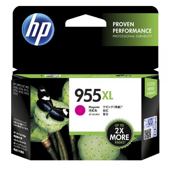 Singapore Original HP-955XL Magenta Ink (LOS66AA) For Printer: HP OfficeJet Pro 8710, 8720, 8730, 8210