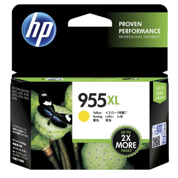 Singapore Original HP-955XL Yellow Ink (LOS69AA) For Printer: HP OfficeJet Pro 8710, 8720, 8730, 8210
