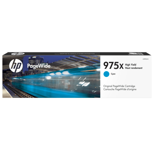 Singapore Original HP-975X Cyan Ink (L0S00AA) For Printer: HP PageWide Pro 452dw, 552dw, 477dw, 577dw, 577z