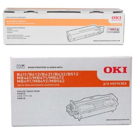 Singapore Original OKI B411/B431/MB461/MB471/MB491 Toner and Drum for Printer Models: B411d, B411dn, B431d, B431dn, MB461, MB471, MB491