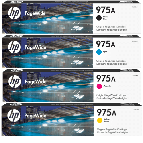 HP 975a L0R88AA L0R91AA L0R94AA L0R97AA black cyan magenta yellow ink
