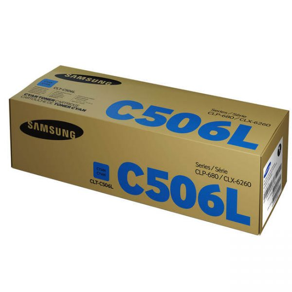 Singapore Original Samsung CLT-C506L Cyan Toner for Printer Models: CLP-680, CLX-6260