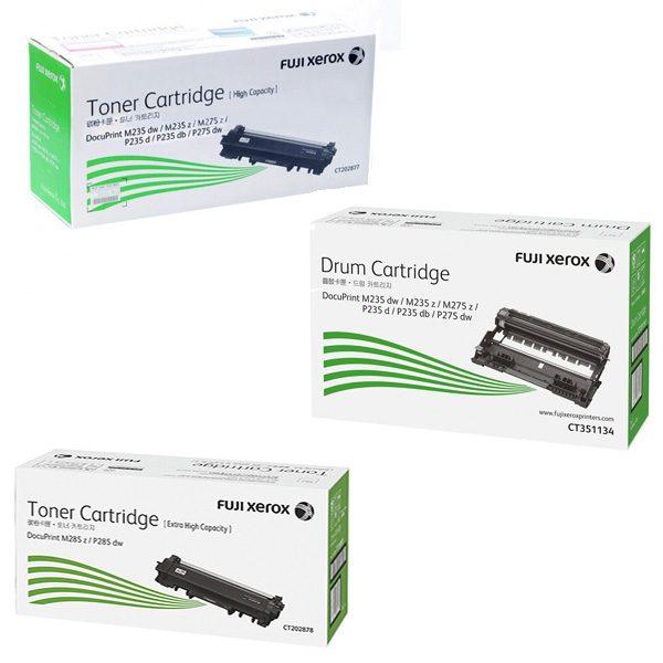 Singapore Original Fuji Xerox CT202877 (Standard Capacity) Toner and CT202878 (High Capacity) Toner and CT351134 Drum for Printer Models: P285DW, M285Z