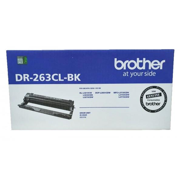 Singapore Original Brother DR-263CL Black Drum (Only Drum for Black) for Printer Models: HL-L3230CDN, HL-L3270CDW, DCP-L3551CDW, MFC-L3750CDW, MFC-L3770CDW