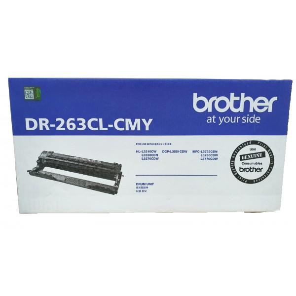 Singapore Original Brother DR-263CL-CMY Magenta Drum for Printer Models: HL-L3230CDN, HL-L3270CDW, DCP-L3551CDW, MFC-L3750CDW, MFC-L3770CDW
